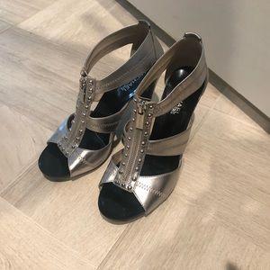 Michael Kors Silver Heels Size 9